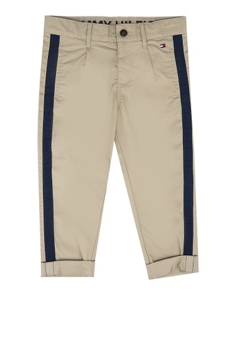 Tommy Hilfiger beige Pleated Tape Chino Pants 481AEKA82D47C1GS_1