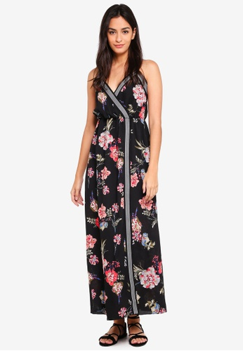 Something Borrowed black Wrap Cami Maxi Dress 66D37AA9D1CB50GS_1