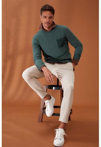 DeFacto green Man Knitted Sweat Shirt 2F541AAFB5A13DGS_1