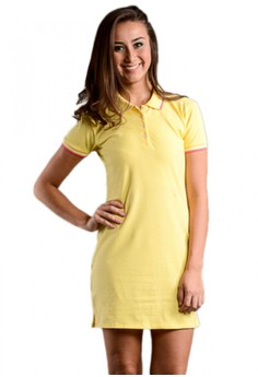 Newyork Army Polo Fit Shirt Dress - Yellow