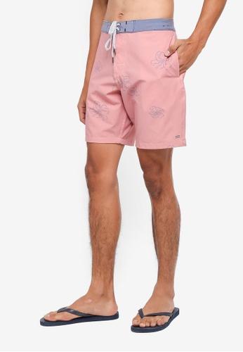 Cotton On 紅色 撞色衝浪褲 18FFDAA65B6159GS_1