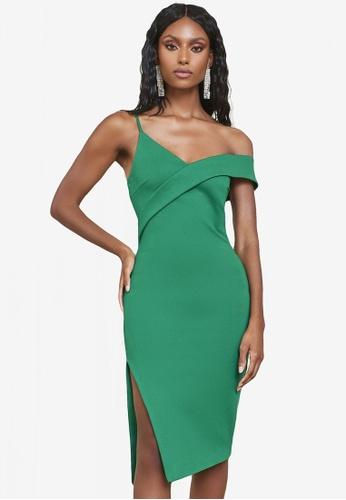 Lavish Alice green One Shoulder Midi Dress 4E8ABAA849EF1CGS_1