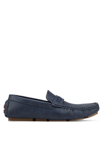 UniqTee 藍色 Casual Slip On With Web Strap 9D0B2SHBAE906CGS_1