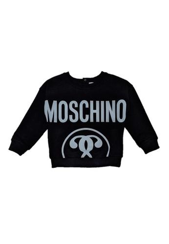 MOSCHINO BABY KID TEEN black MOSCHINO BABY BOYS SWEATSHIRT 7E93EKA9C7BE27GS_1