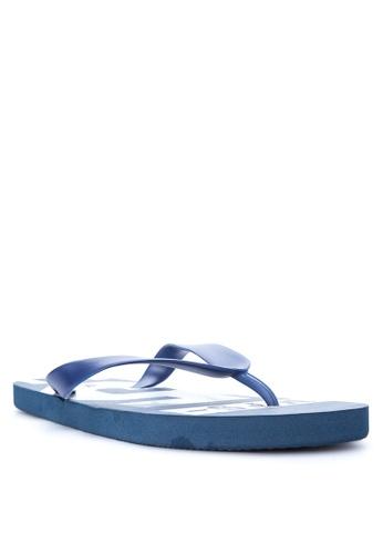 BENCH blue Printed Slippers BE550SH15EKAPH_1