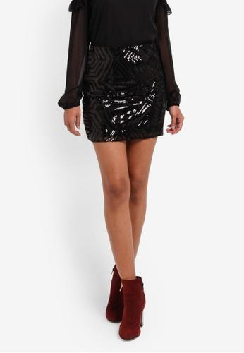 Vero Moda black Silje Mini Skirt VE975AA0S44JMY_1