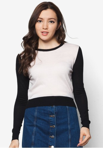 撞色拼袖長袖衫, 服尖沙咀 esprit outlet飾, 服飾