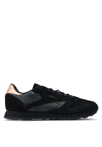 Reebok black Cl Leather Shoes 389FASH8742D70GS_1