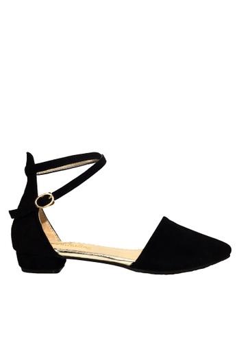 Twenty Eight Shoes 黑色 踝帶尖頭小跟鞋 VLC5 0B9B5SH619DB1DGS_1