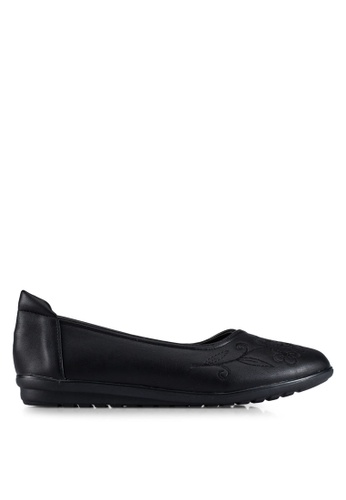 Louis Cuppers black Embroidered Flats LO977SH0RX43MY_1