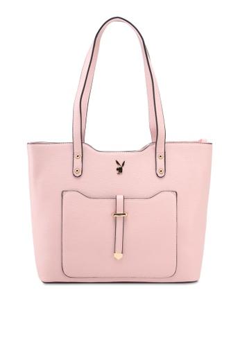 PLAYBOY BUNNY pink Playboy Bunny Ladies Handbag 74A7EAC644E8EBGS_1