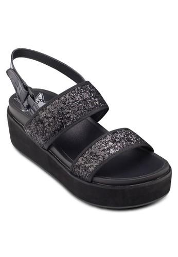 閃飾寬帶esprit outlet 台中厚底涼鞋, 女鞋, 楔形涼鞋