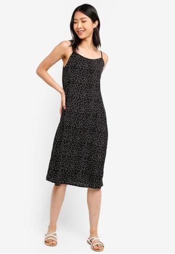 ZALORA BASICS black and multi Basic Cami Midi Dress EB759AA0B858A7GS_1