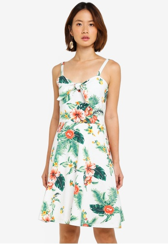 Dorothy Perkins white Ivory Floral Strappy Sundress 3CDA5AA6B25845GS_1