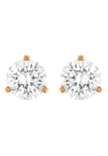 Swarovski white Solitaire Pierced Earrings 948BDACF7DAAA5GS_1