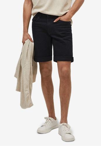 MANGO Man grey Black Denim Bermuda Shorts D4C24AA7EEA2A3GS_1