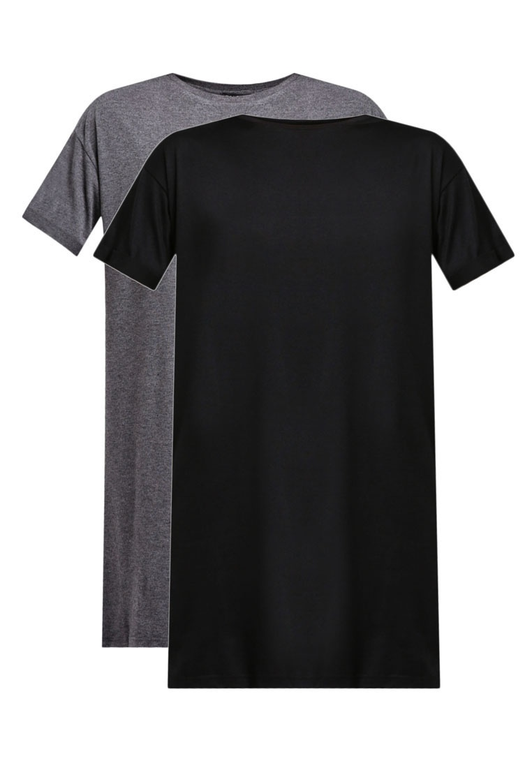 Shirt BASICS Dark Pack Marl ZALORA Essential Grey 2 Dress T Black 6AgnxB