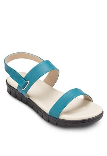 salon esprit 香港雙帶繞踝厚底涼鞋, 女鞋, 涼鞋