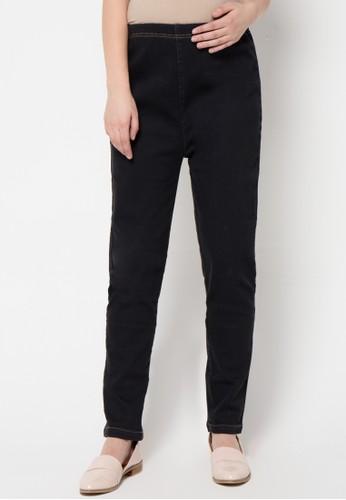 ELSY'S black Celana Panjang Jeans Kantong Belakang 2 EL744AA79GFKID_1