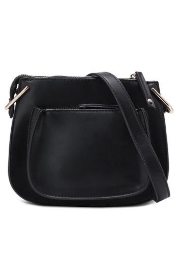 Dorothy Perkins black Black Saddle Bag DO816AC0S4T2MY_1