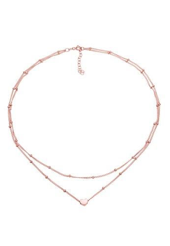 ELLI GERMANY gold Choker Ball Heart Rose Gold Necklace 7E177AC2D29C32GS_1
