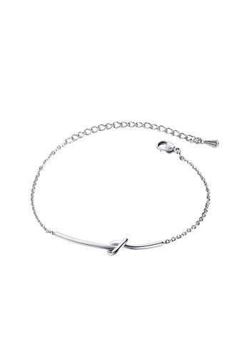 YOUNIQ silver YOUNIQ Simple Knot Silver Slim Bracelet 8A5CDACF2CF3DCGS_1