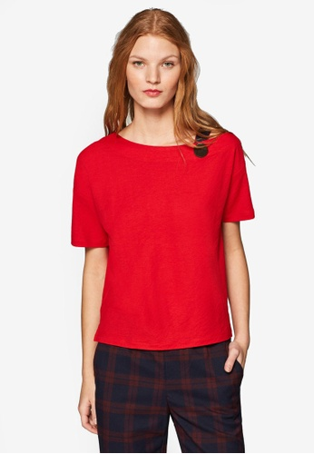 ESPRIT red Short Sleeve Top With Strap A0824AA8DC4AE7GS_1