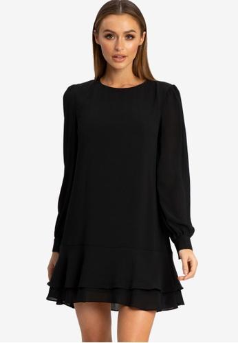 REUX black Xena Mini Dress C9DD8AA5C7BBBEGS_1