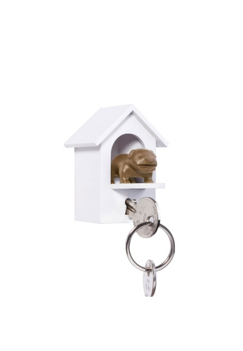 Qualy Qualy Watchdog Key Holder (White/Brown) 32375HL5FA2C4AGS_1