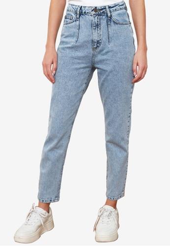 Trendyol blue High Waist Mom Jeans C73F3AA607B719GS_1
