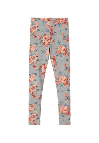 NAME IT grey Vivian Floral Printed Leggings EDF9EKA53BAFB2GS_1