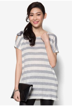 Striped Cotton Top with Bow