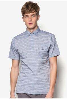 Textured Check Button Down Short Sleeve Shirt