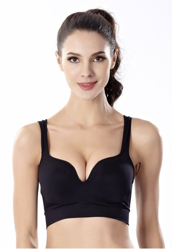 d301199eb54ca5 YSoCool black Women Seamless Padded Push Up Racerback Bra (Black)  D1DB5US4330822GS 1