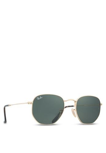 c74d58f9f5 Buy Ray-Ban Hexagonal Flat Lenses RB3548N Sunglasses Online on ZALORA  Singapore