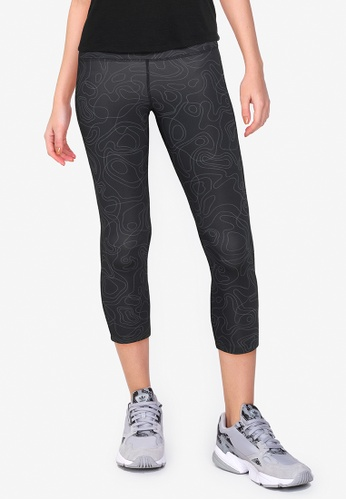 Nike black and grey Women's Fast Run Division Crop Running Tights AC408AA8AFCE2EGS_1