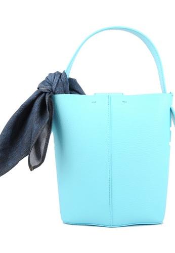 RO Bags blue RO Terranova Felucca Mini Top Handle Bucket Bag in Aqua/Mint 41D1CAC00DEC0EGS_1