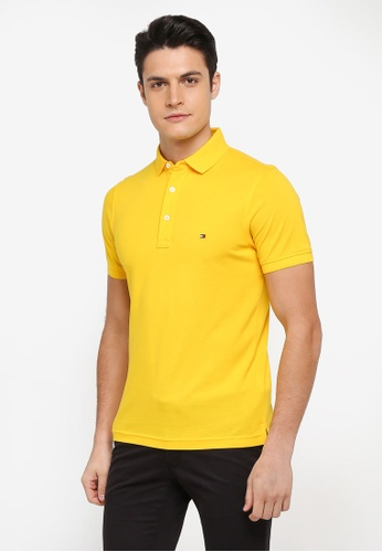Tommy Hilfiger yellow TOMMY SLIM POLO 1919CAAD8F01D2GS_1