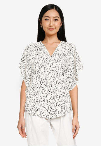 GLOBAL WORK white Floral Blouse 60F85AA8300854GS_1