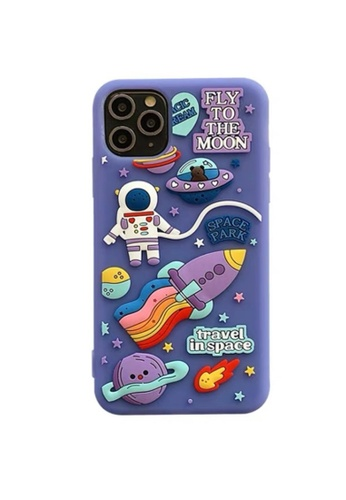 Kings Collection purple Purple Cartoon Astronaut iPhone 11 Pro Max Case (KCMCL2282) C769FACC72DB71GS_1