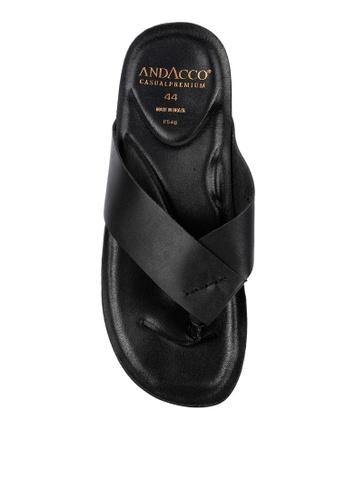 G&G black Slip On Sandals D6717SH006B312GS_1