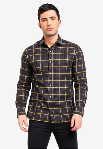 MANGO Man multi Slim-Fit Checked Cotton Shirt 51477AA6186D2BGS_1