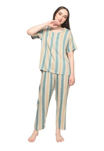Pajamalovers brown Joe092135 Long Sets 8150BAAB7F9570GS_1