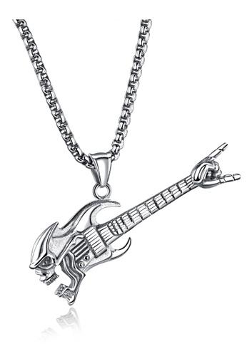 Trendyshop silver Guitar Pendant Necklace 32A7FACE3C3104GS_1