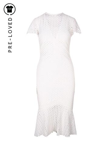 Bec & Bridge white Pre-Loved bec + bridge Lace White Knee Lenght Dress 581A8AA5E0ED9AGS_1