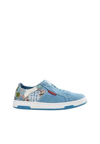 Royal Elastics blue and multi Icon Washed Canvas Sneaker RO796SH2VTVRHK_1