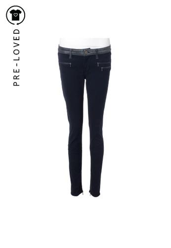Victoria Beckham black Pre-Loved victoria beckham Zip Detail Trousers 5B92EAAF9A97B1GS_1