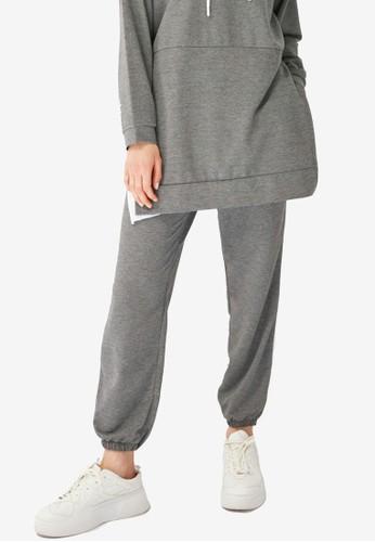 Trendyol grey Grey Jogger Pants 5D154AA2EEF94EGS_1