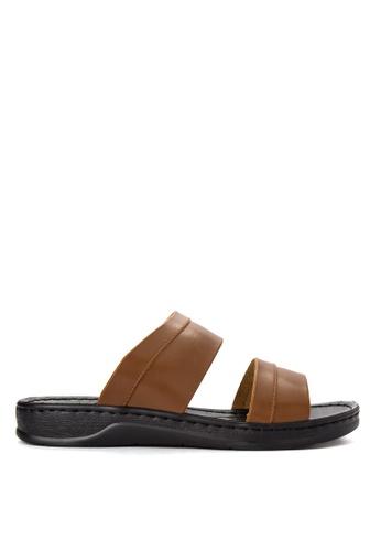 Mendrez brown Lance Sandals ME992SH0JARHPH_1
