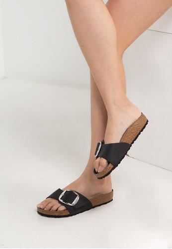 Birkenstock black Madrid Big Buckle Sandals 344FDSH5CC7363GS_1